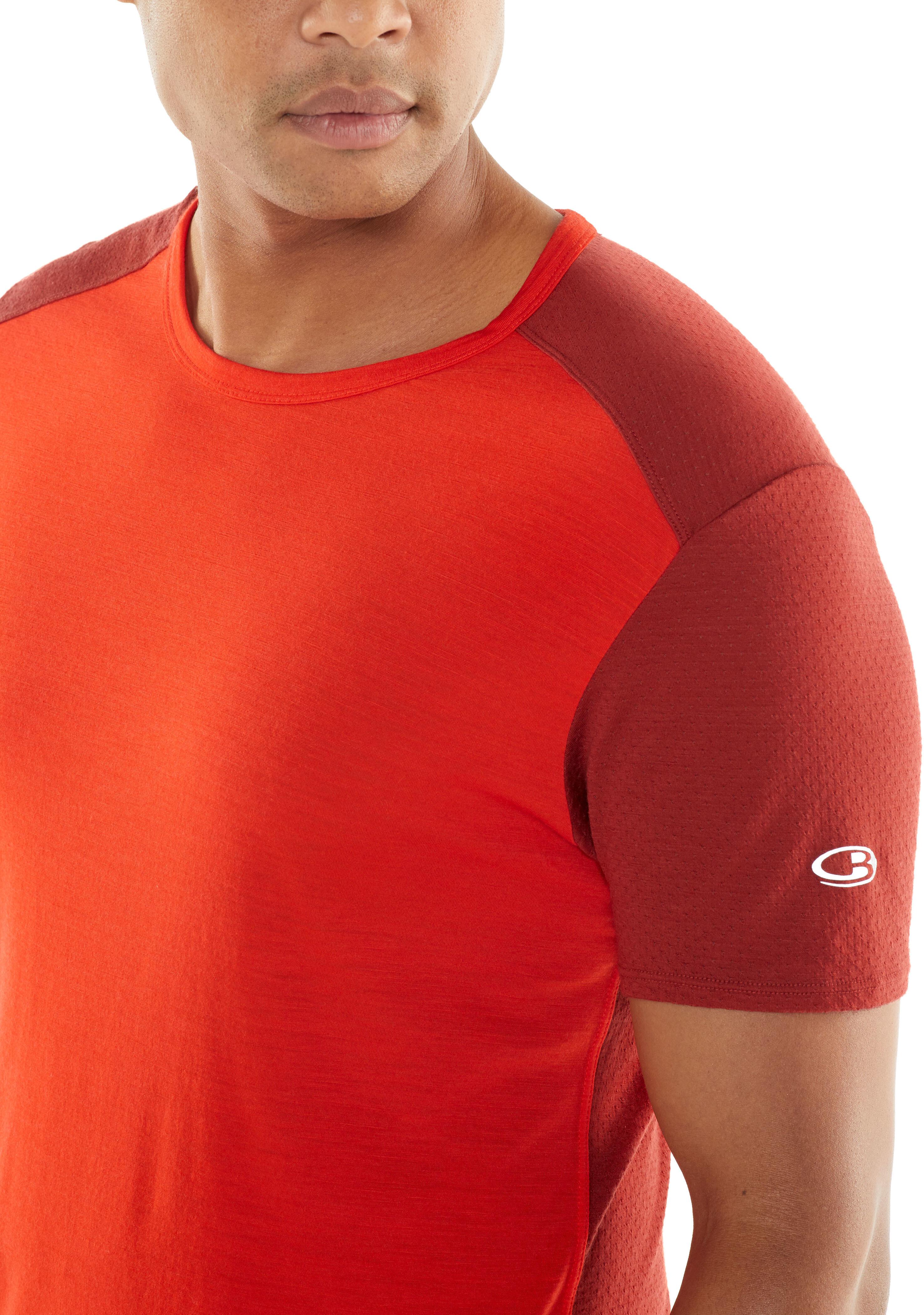 c48c5e415 Icebreaker Amplify SS Crewe Shirt Men chili red/sienna